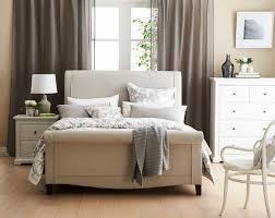 louvre upholstered bed frame light grey bedroom furniture