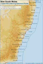 map of new south wales coastal waters forecast for new south wales