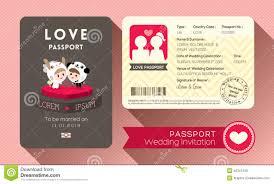 passport wedding invitation stock vector image 40341248