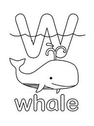 letter w for whale coloring page letter w for whale coloring page