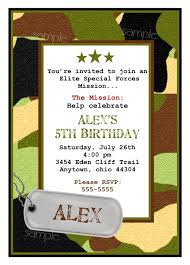 army birthday invitations army invitations camo invitationsarmy birthday party