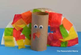 toilet paper roll turkey kid craft the resourceful