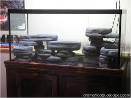 diy aquarium background rock ledges fishtank diy decor ideas