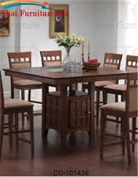 Mix  Match Counter Height Dining Table With Storage Pedestal Base By - Counter height kitchen table with storage