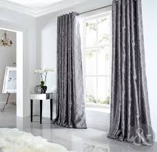 Glitter Curtains Ready Made Minogue At Home Natala Slate Grey Silver Velvet Lined Ready