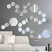diy home decor wall 12 pieces pack hexagonal home decor wall stickers 3d diy acrylic