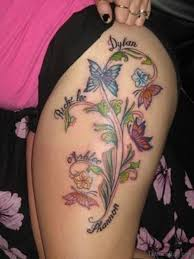 71 pretty butterfly tattoos on thigh
