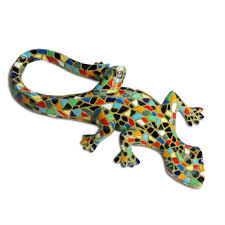 set of four mosaic wall lizard gecko garden ornaments gardens2you