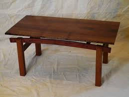 hand crafted curly claro walnut coffee table by taos woodshop