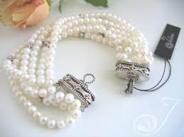 white pearl bracelet images Pearl cuffs pearl jewellery jpg