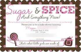 sugar and spice baby shower invitations u2013 gangcraft net