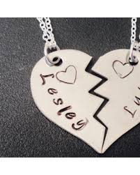 friend heart necklace images Don 39 t miss this bargain broken heart necklace set best friend