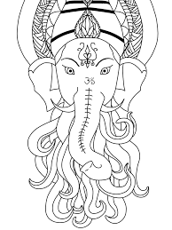 ganesha outline finished by isabelleinstazen on deviantart
