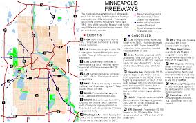 Twin Cities Map The List That Jack Didn U0027t Build Cancelled Highways