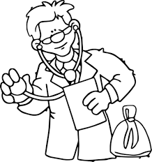 coloring pages of a doctor with patient doctor coloring pages
