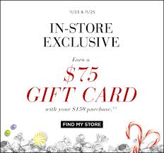 saks fifth avenue black friday thanksgiving sale 75 gift card