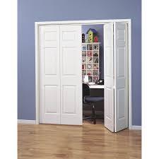 Hollow Interior Doors Shop Reliabilt Hollow 6 Panel Bi Fold Closet Interior Door