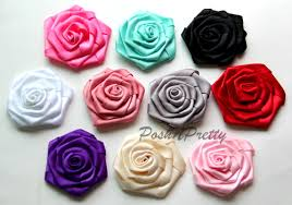 satin roses folded roses posh n pretty boutique wholesale supplies