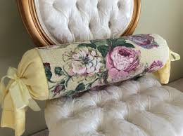 Daybed Bolster Pillows Yellow And Pink Bolster Pillow Bark Cloth Linen