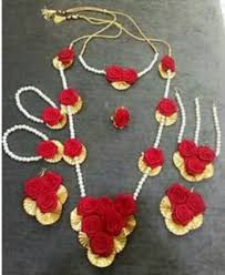 necklace flower handmade images Amazane india free size handmade flower jewellery set rs 400 set jpeg
