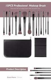 ducare professional 15pcs makeup brushes set powder foundation