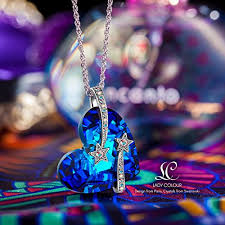 titanic necklace swarovski crystal images The shoe club lady colour sapphire necklace for women venus blue jpg