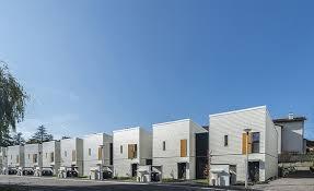 this prefab social housing development functions as a diverse eco
