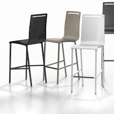 chaise de bar chaise de bar contemporaine en métal en acier nera cancio