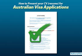 cv high student australia visa how to present your resume for australian visa applications