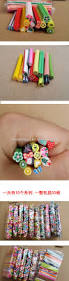 nail art 3d fruit flowers heart fimo rods canes polymer clay diy