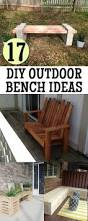 Backyard Bench Ideas by 17 Awesome Diy Outdoor Bench Ideas