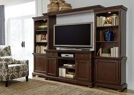 Media Center With Fireplace by Signature Design By Ashley Porter Rustic Brown Xl Entertainment