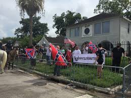 white lives matter group protests outside naacp in houston u0027s third