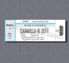 concert ticket wedding place cards printables