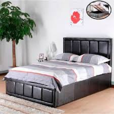 paris ottoman storage gas lift bed luxury leather beds beds co