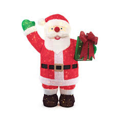 home accents holiday 84in 400l led giant fuzzy tinsel santa with