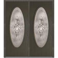 mmi door 64 in x 80 in heirloom master left hand large oval