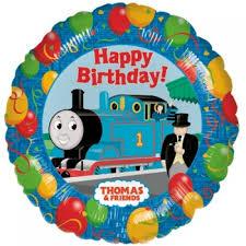 thomas tank engine party foil balloon coloured balloons