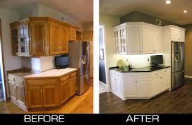 Refinish Kitchen Cabinets White Refinishing Golden Oak Cabinets Edgarpoe Net