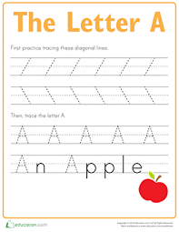 practice tracing the letter a worksheet education com