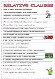 english worksheet relative adjective clauses 00 centers