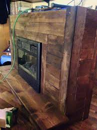 Fireplaces Tv Stands by Pallet Fireplace With Tv Stand