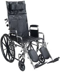 chrome sport full reclining wheelchair drive medical