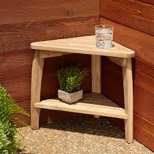 terrel teak outdoor corner table outdoor
