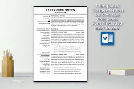 Word Resume Template 2014 Fascinating Modern Resume Template Cover Letter References Resumes