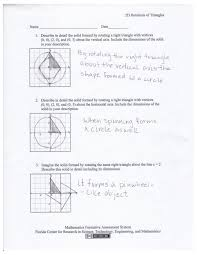 3 Dimensional Shapes Worksheets 2d Rotations Of Triangles Students Are Given The Coordinates Of