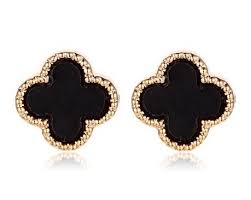 designer stud earrings now on sale designer clover stud earrings jewelry