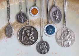 antique necklace pendants images Authentic vintage st christopher pendants surfing cowboys jpg