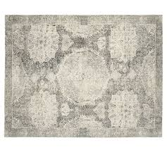 Pottery Barn Area Rugs Barret Printed Rug Gray Pottery Barn