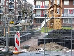 Urban Garden Amsterdam File Construction Of New Playground City Garden In Amsterdam